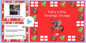Prezentacja PowerPoint Dzień św. Jerzego po polsku - święta