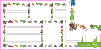 Sleeping Beauty Page Borders - sleeping beauty, page borders, borders, themed page borders, writing frames, writing templates, writing aid, line guides
