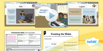 PowerPoint Presentation Skills: Creating Slides - Year 3 Computing Lesson Pack