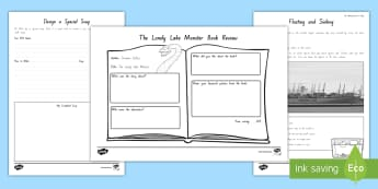 Years 3 and 4 Week 4 Chapter Chat Resource Pack to Support Teaching On The Lonely Lake Monster by Suzanne Selfors - literacy, reading, chapter chat, suzanne selfors, the lonely lake monster, new zealand