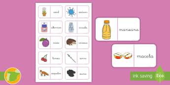 Dominos: La C y la Z - Juego, lecto, leer, lectura, fonemas, sonidos, didáctico, consonantes, Spanish