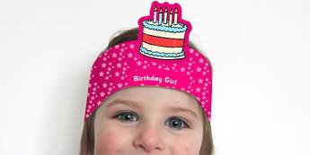 Birthday Boy and Birthday Girl Headbands - awards, rewards, party