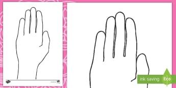 Diwali Hand Outline Activity Sheet English/French - hand,festival, mehndi, Worksheet
