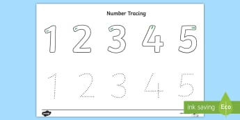 Number Tracing 1-5 Activity Sheet - Number Tracing, Number formation, Australia, numbers, handwriting, formation,