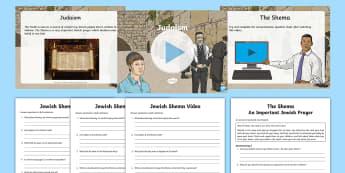 Jewish Shema Resource Pack - Shema, Jewish, judaism, prayer, Hebrew, God