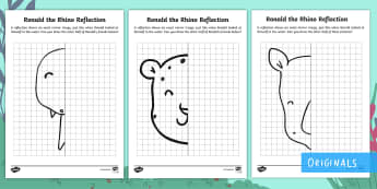 Ronald the Rhino Symmetry Activity Sheets - Ronald the Rhino, children's book, rhyme, story, endangered, animal, critically, extinct, symmetry,