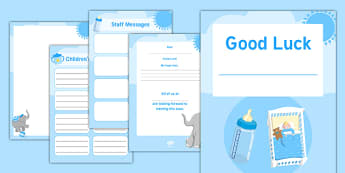Maternity Leave   Baby Boy Activity Booklet