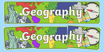 Geography Display Banner - geography, geo, display, banner, sign, poster, earth, land, atlas, direction, compass, mountain, landscape, rock, rivers, sea