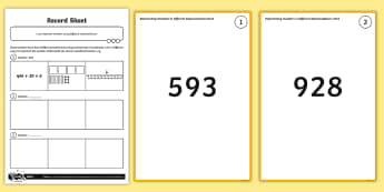 Representing Numbers in Different Representations Activity - Number and Place Value, dienes, singapore maths, shanghai maths, problem solving, maths mastery, yea