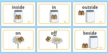 Positional Language Butterfly Display Posters - positional language, butterfly, display poster, display, poster