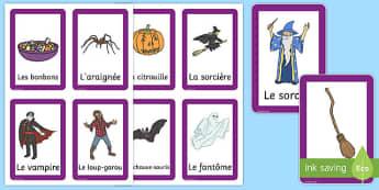 Cartes pour jeu de paires sur le thème d'Halloween