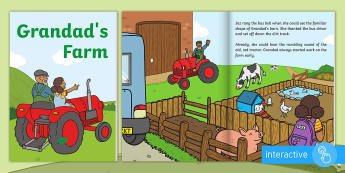 Exploring My World - Grandad's Farm eBook - aistear, story, animals, farmyard, chickens, pigs, growing, food,Irish