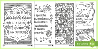 Classroom Inspiration Quotes Mindfulness Colouring Sheets English/Italian - Classroom Inspiration Quotes Mindfulness Colouring Sheets - classroom, inspiration, quotes, mindfuln