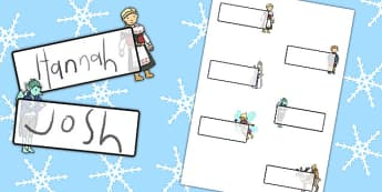 The Snow Queen Editable Self Registration - edit, labels, visual