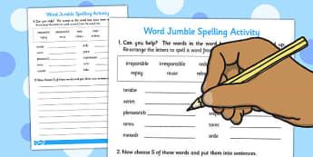Prefixes 'ir' And 're' Word Jumble Activity - activities, activities
