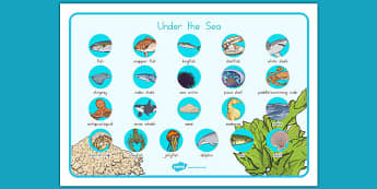 Under the Sea Word Mat