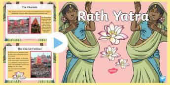 KS2 Rath Yatra Information PowerPoint - Hinduism, festival, religious celebration, religion, chariots