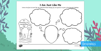 I Am Just Like Me Activity Sheet - Ronald the Rhino, Twinkl story book, utw, special, unique, different, psd, psed, seal, circle time,