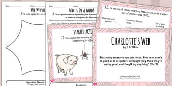 Charlottes Web Inspired Instruction Writing Lesson Teaching Pack