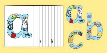 Alphabet Phonics Display Letters