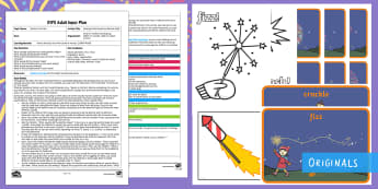 EYFS Sparks in the Sky Hearing Initial Sounds on Bonfire Night Adult Input Plan and Resource Pack - Twinkl originals, fiction, Literacy, Reading, Writing, Phonics, Bonfire Night, Sounds, Twinkl Origin