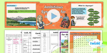 Year 6 Term 1A Week 1: Ambitious Synonyms for Adjectives Spelling Pack