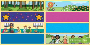 Editable Classroom Banners - display, banner, editable.