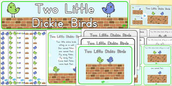 Two Little Dickie Birds Resource Pack - australia, pack, birds