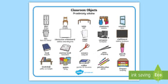 Classroom Objects Word Mat English/Polish - Classroom Objects Word Mat - classroom objects, classroom, objects, word mat, word, mat, wordmat, oj