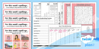 PlanIt Year 4 Term 3B Bumper Spelling Pack - Spellings Year 4, spellings, summer term 2, spag, term 3b, summer holidays, year 4 summer