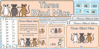 Three Blind Mice Resource Pack - three blind mice, resource pack, pack of resources, themed resource pack, three blind mice pack, resources, nursery rhymes