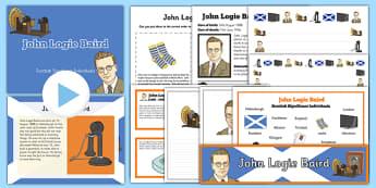 Scottish Significant Individuals John Logie Resource Pack - Scottish significant individual, television, invention, engineer, broadcast, Scottish history