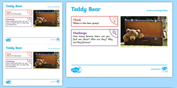 Toys: Teddy Bear KS1 Exploration Sheet - toys, teddy bear, bear, cuddly toy, KS1, Imagine (KS1)