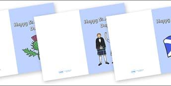 St Andrews Day Cards - St Andrews Day, St. Andrew's Day, Saint Andrew, Happy St. Andrew's Day, cards, card, flashcard, letter, patron, saint, Scotland, Scottish, national day, cultures, countries, november, Tartan