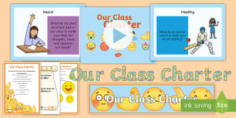 Our Class Charter Emoji Themed Resource Pack - Our, Class, Charter, Emoji, Themed, Resource, Pack,  Classroom, Management, Behaviour, KS2
