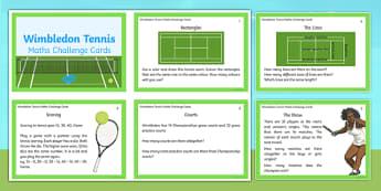 KS1 Wimbledon Maths Challenge Cards