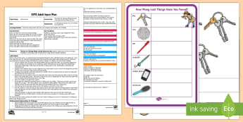 EYFS The Hunt for Missing Things Counting and Recording Activity Adult Input Plan and Resource Pack - Mathematics, number, counting, count, EYFS, Early years planning, adult led, data handling, marks, r