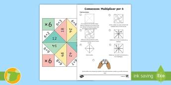 Comecocos: Multiplicar por 6 - multiplicación, x6, por seis, juego, mates, matemáticas,Scottish
