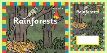Rainforest Topic Editable Book Cover - rainforest, topic, book cover, cover, book, reading, trees, animals, exotic, tropical, warm, forest, tree, plants, green, amazon, editable, creative, activity, creativity