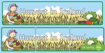 Harvest in Ireland Banner - ROI Harvest,Irish, harvest in ireland, Ireland