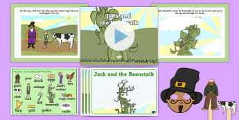 Jack and the Beanstalk - Listen and Retell Oral Language Activity Pack - Retelling, Speaking, Communicating, Exploring, Using, Understanding, New Language Curriculum, Story,