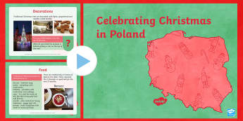 KS2 Celebrating Christmas in Poland PowerPoint - Christmas, Nativity, Jesus, xmas, Xmas, Father Christmas, Santa, St Nic, Saint Nicholas, traditions,