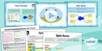 Computing: Scratch: Splat Game Year 5 Lesson Pack 4