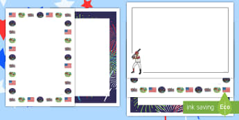 Independence Day Page Borders - independence day, borders, page