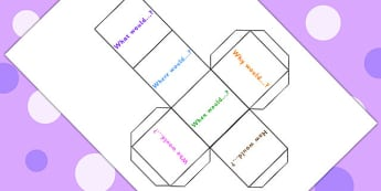 Probability Prompt Questions Dice Net - probabilty, numeracy games, dice, dice games