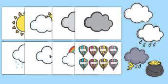 Sunshine and Cloud Class Behaviour Chart - golden time, rainbow display, golden time display, golden time set, rainbow display set, golden time rainbow set