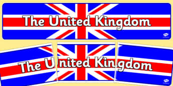 United Kingdom Display Banner - United Kingdom, UK, display, banner, sign, poster