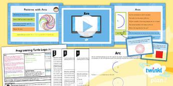Computing: Programming Turtle Logo: Arc Year 4 Lesson Pack 6
