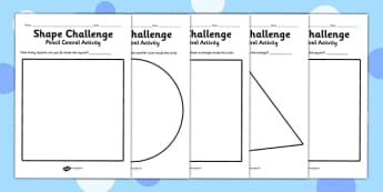 Pencil Control Activity Shape Sheets - fine motor skills, shapes