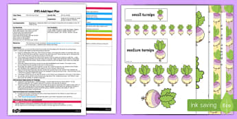 EYFS Sorting Turnips Adult Input Plan and Resource Pack